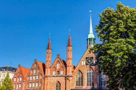 Hospital of the Holy Spirit in the Hanseatic City of Lubeck Stock Photo