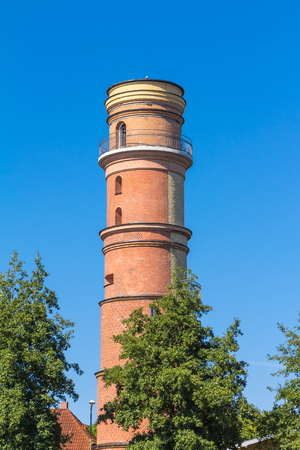 Old lighthouse tower in Travemuende in Germany