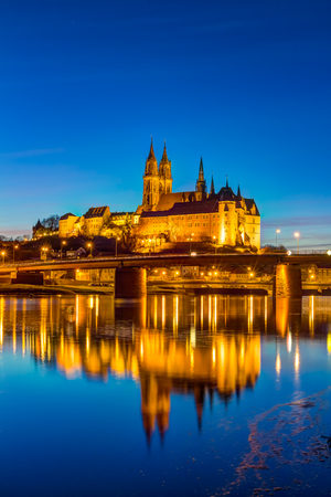 Albrechtsburg and Meissen Cathedral Stock Photo