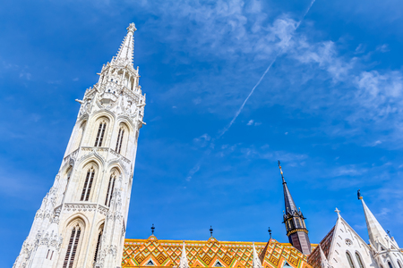 restored: Matthias church in Budapest - Church of our Lady of Buda, Hungary