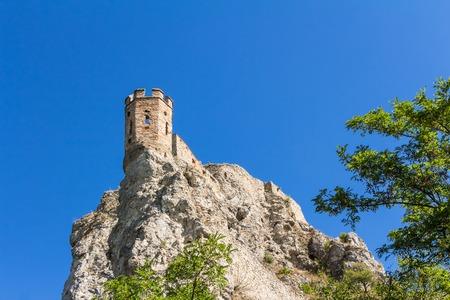 prestigious: The ruins of Devin Castle near Bratislava in Slovakia Stock Photo