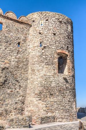 The ruins of Devin Castle near Bratislava in Slovakia Stock Photo