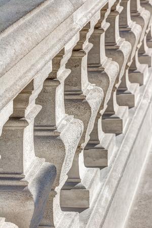 White stair railing outside at the Bratislava Castle Reklamní fotografie
