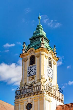 Old Town Hall tower in the city center of Bratislava, Slovakia