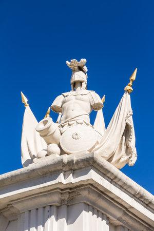 Sculpture on an entrance portal at Bratislava Castle