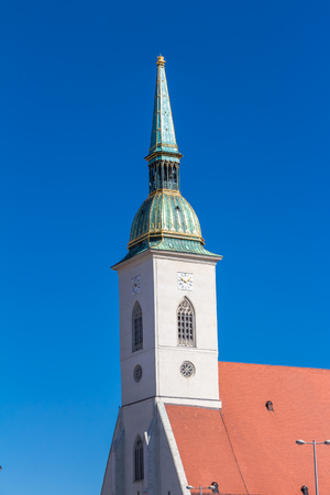 Historic St. Martins Cathedral in the old town of Bratislava, Slovakia
