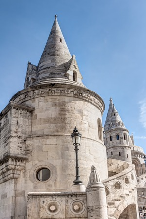 Historic Fishermans Bastion on castle hill in Budapest