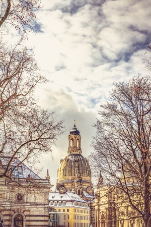 The Church of our Lady in the old town of Dresden Standard-Bild