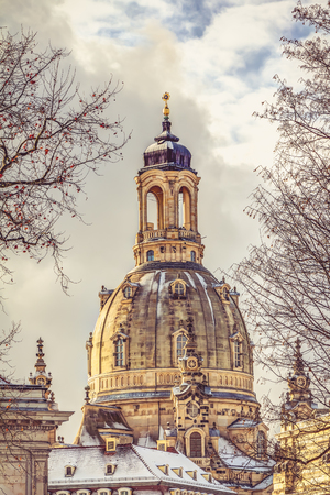 The Church of our Lady in the old town of Dresden Reklamní fotografie