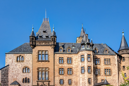 Wernigerode Castle located in the Harz mountains