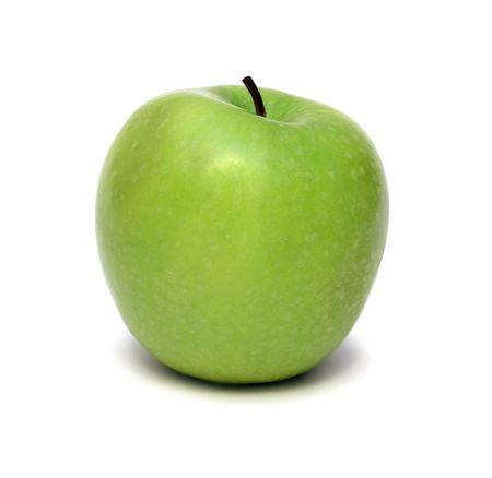 green apple fruit isolated on white