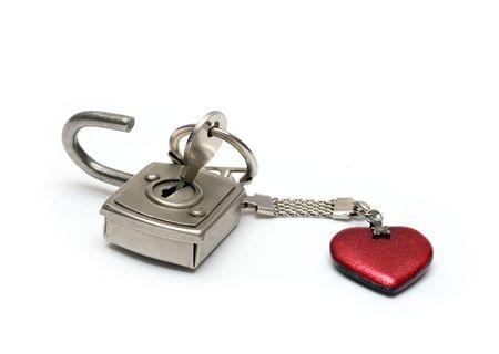 open heart - key with heart unlock photo