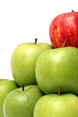 chosen one: domination concepts - red apple between green apples