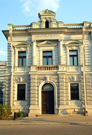 front of old ornate house in Moscow Stock Photo - 3099537