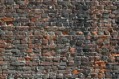 old stained dark brick wall Stock Photo - 3254552