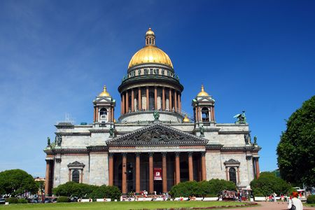 synod: isaakiy cathedral church in Saint-petersburg, Russia
