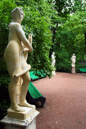 nudes: Summer gardens park in Saint Petersburg, Russia