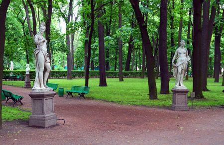 Sommer-Gärten-Park in Sankt Petersburg, Russland