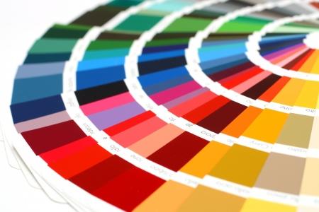 offsetdruck: offene Probe RAL Farben Katalog