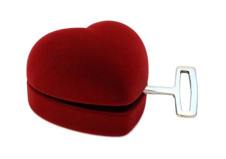 key open heart concept isoalted on white photo