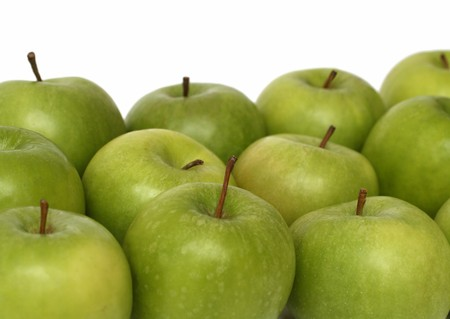 croud: identical concepts - croud of many green apples