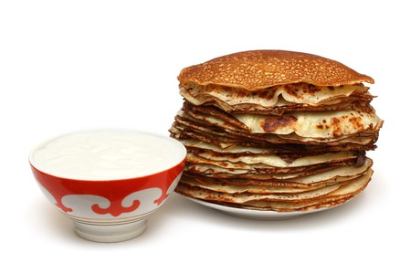 stack of pancakes - russian traditional food Stock Photo - 4551126