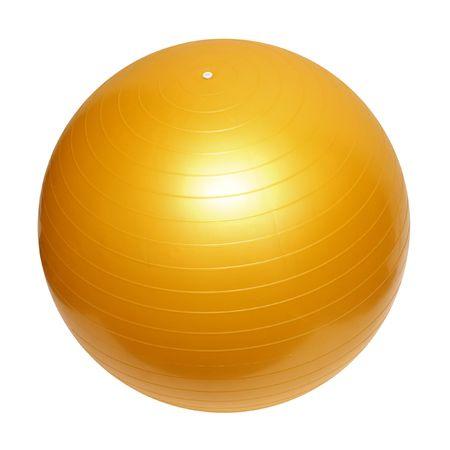 yellow ball: gymnastic yellow ball isolated on white