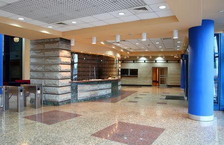 empty entrance hall interior in office building Reklamní fotografie