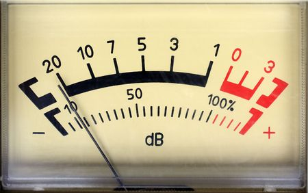 decibel: decibel meter - part of sound equipment
