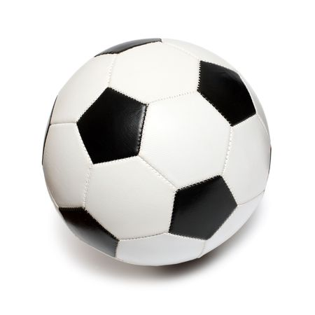 football soccer ball isolated on white photo