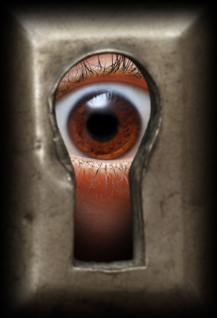 curiosity eye in keyhole - spy concept Stock Photo - 5998326