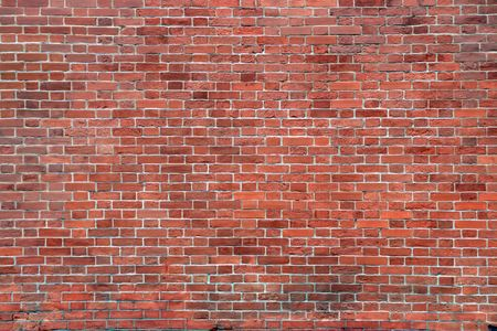 old red brick wall - architecture background photo