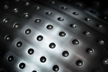 spherical: spherical metal surface background with repetition holes