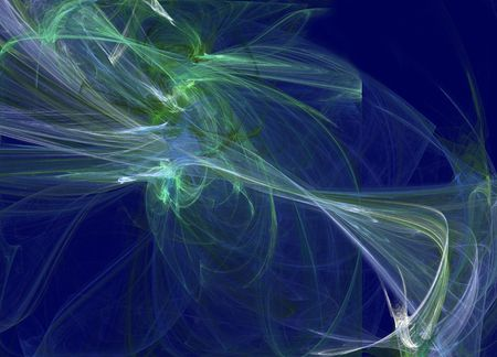 luminescent: abstract fractal image with luminescent lines background