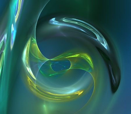abstract luminescence fractal image on fantastic theme photo