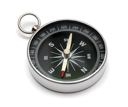 compass on white backgroun Stock Photo