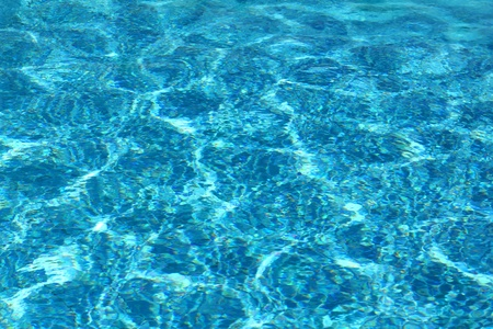 swimming pool with ripple turquoise water background photo