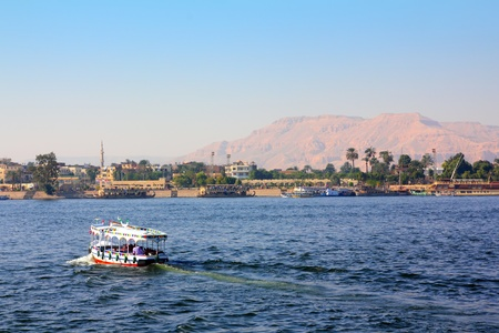 nile: crossing of the Nile River in Luxor Egypt Stock Photo