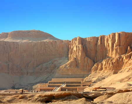 luxor: famous ancient temple of Hatshepsut in Luxor Egypt
