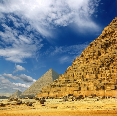 famous ancient egypt pyramids in Giza Cairo