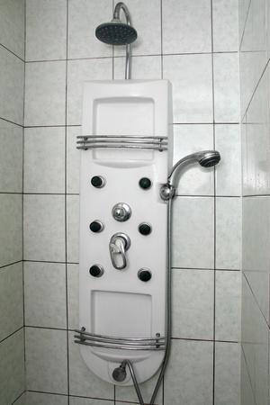 hydromassage: bathroom  interior with shower and hydromassage Stock Photo