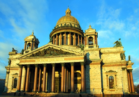 synod: isaakiy cathedral dome in morning light, Saint-petersburg, Russia