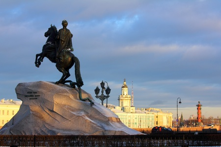 synod: Peter 1 monument in Saint-petersburg, Russia Stock Photo