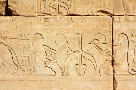 ancient egypt images and hieroglyphics in Luxor karnak temple photo