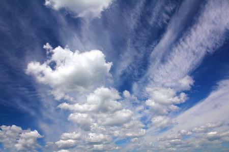 fleecy: dark blue sky with clouds background