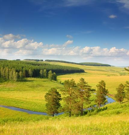 hills summer landscape in Russia Ural photo