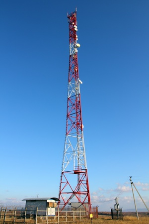 communications tower: wireless communications tower with antennas