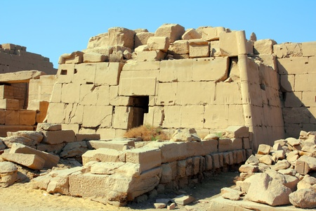 egyptian pharaoh: tomb in famouse karnak temple in Luxor Egypt Stock Photo