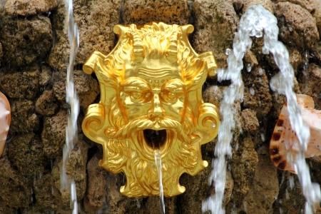 renewed: fountain detail in renovated Summer garden St. Petersburg Russia