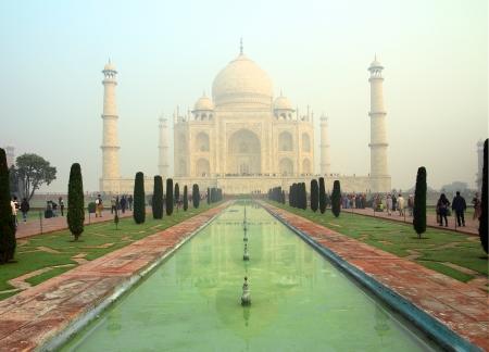 Taj Mahal - famous mausoleum in Agra India photo